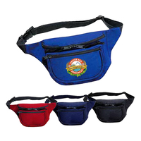 420D Nylon Three Pocket Polyester Fanny Pack