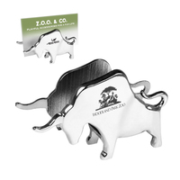 Metal Charging Bull Business Card Holder