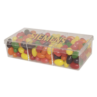 3way Acrylic Show Piece Container with Jelly Beans Candy