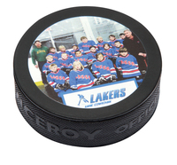 4 color process Official Hockey Puck