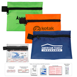 8 Piece Take-A-Long First Aid Kit in Polyester Zipper Pouch