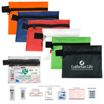 11 Piece Travelers First Aid Sun Kit in Zipper Pouch