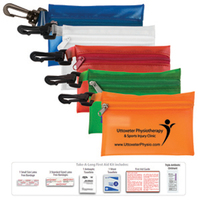 Take-A-Long Kit 2 - 8 Piece First Aid Kit with Carabiner