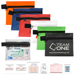 On The Go Kit 3 - 15 Piece First Aid Kit in Zipper Pouch