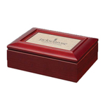 "Alda Trinket Box - Mahogany/Sandstone 7 3/4"""