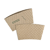 Small Kraft Hot Cup Sleeves - Flexographic printed