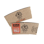 "Large KRAFT "" ECONO"" Hot Cup Sleeves - Flexographic printed"