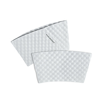 Small White Hot Cup Sleeves - Flexographic Printed