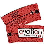 "Large White ""ECONO"" Hot Cup Sleeves - Flexographic printed"