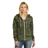 Alternative Women's Adrian Eco -Fleece Zip Hoodie.