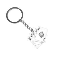 Royal Flush Poker Cards Metal Key Tag - Small