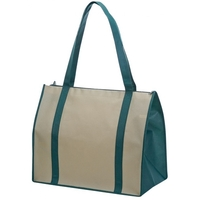 Non Woven Tote Bag with Zipper and Fabric Covered Bottom
