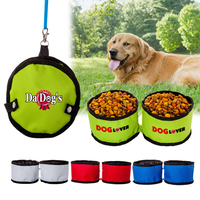 600D Poly Dual Folding Pet Travel Bowl