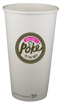 20 oz. Compostable Paper Hot Cup