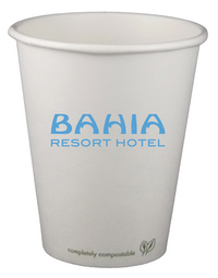 8 oz. Eco-Friendly Paper Hot Cup - Offset Printed