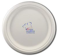 "8.75"" Round Eco-Friendly Paper Plate"