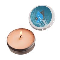 Snap-Top Tin Soy Candle (Mango and Papaya) - White - Eco