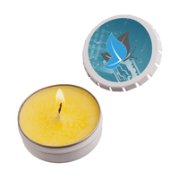Snap-Top Tin Soy Candle (Lemon Chiffon) - White