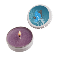 Snap-Top Tin Soy Candle (Lilac) - White