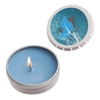 Snap-Top Tin Soy Candle (Ocean Mist) - Silver