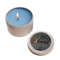 2 oz. Round Tin Soy Candle (Ocean Mist)- Eco friendly Candle