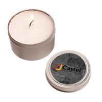 2 oz. Round Tin Soy Candle (Vanilla) - Eco friendly