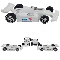 "Indy/ Formula Style Die Cast 3"" White Race Car - Full Color"
