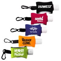 Hand Sanitizer in Clip-On Neoprene Sleeve .5 oz