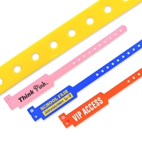 Custom Wide-Faced Vinyl Wristbands