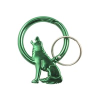 Howling coyote Carabiner