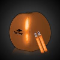 "Translucent Orange 24"" Inflatable Beach Ball with Glow Stick"