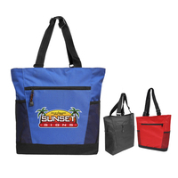 Adjustable Handle Zipper Tote