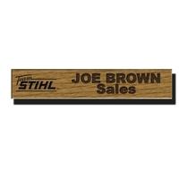 Custom Wood Namebars