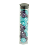 Mini Tube with Imprinted Chocolate Buttons
