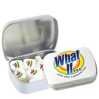 Domed Tin - Imprinted Square Mints