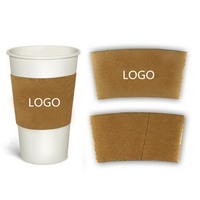 12/16oz Custom Printed Paper Coffee Cup Sleeve
