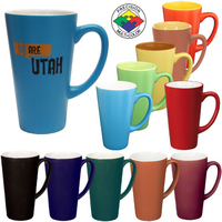 16oz Two-Tone Satin Cafe Latte Mug, spot color