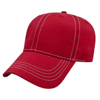 Structured Contrasting Stitch Cap