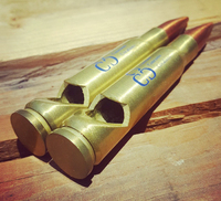 Matte Brass Bullet Bottle Opener