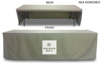 Box Style Table Cloth fits 8' Table (open back)