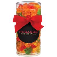 Large Elegant Gift Tube with Gummy Bears