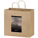 Natural Kraft Carry-Out Bags in CMYK - Color Evolution