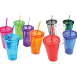 DI-Double Layer Tumbler w/ Straw and Lid