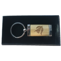 Bamboo and Metal Hybrid Keychains