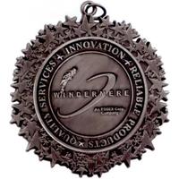 "Star Border Medal - 2 3/4"""
