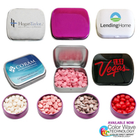 Small Mints Tin Hinged Box with Red Hots
