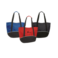 Poly Zippered Shopping Tote Bag