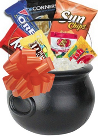 Halloween Caldron Snack Gift Basket