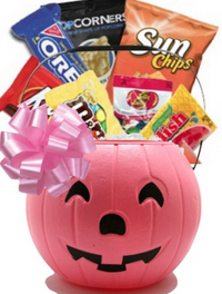 Pink Pumpkin Candy Basket