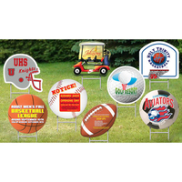Football Helmet Sport Yard Sign